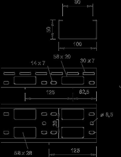 Схема Мини-канал AZ 100 мм — арт.: 6075304