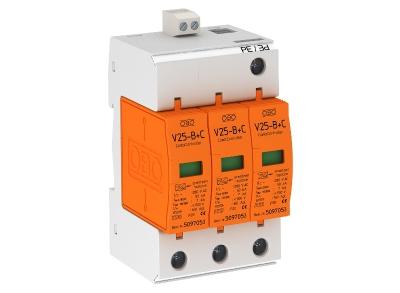 Комбинированный разрядник 3-полюсный с дистанционной сигнализацией — арт.: 5094490
