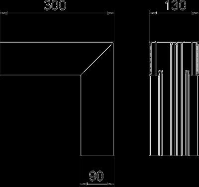 Схема Внутренний угол для кабельного короба высотой 90 мм — арт.: 6276943