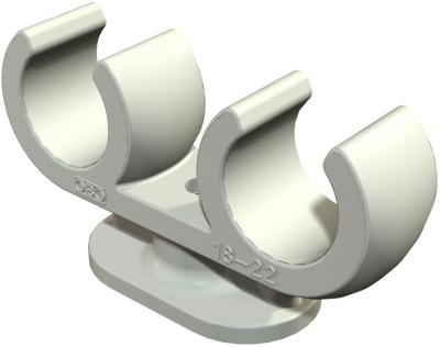 Зажимная скоба для медных труб двойная — арт.: 2140608