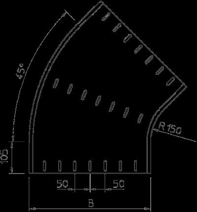 Схема Угловая секция 45° 400-550 мм — арт.: 7000685
