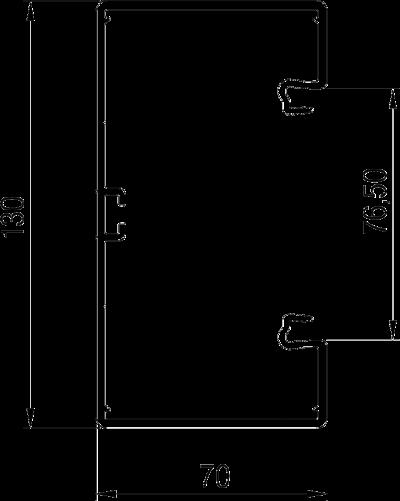 Схема Пластиковый кабельный короб Rapid 80, GKH-70130 — арт.: 6114200