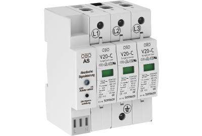 Разрядник для защиты от перенапряжений 3-полюсный, с акустической сигнализацией — арт.: 5096383