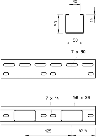 Схема Мини-канал AZ 50 — арт.: 6076149