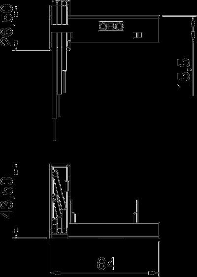Схема Модуль защиты от перенапряжений с суппортом для розеток Modul 45®connect — арт.: 6107801