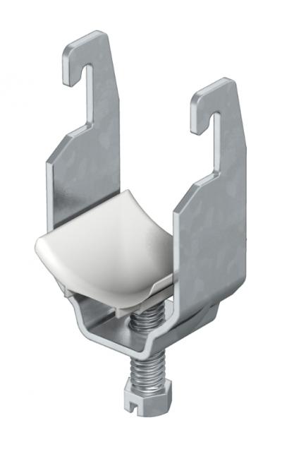 Зажимная скоба 1-секционная, с пластиковой прижимной пластиной — арт.: 1175122