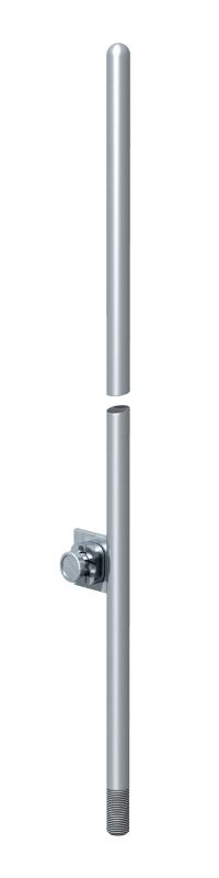 Молниеприемный стержень, округленный с одной стороны, с соединительной накладкой — арт.: 5402808