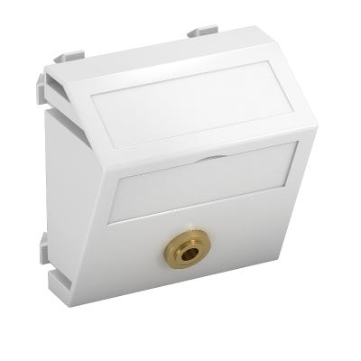 Мультимедийная рамка с разъемом Mini-Klinken, ширина 1 модуль, с наклонным выводом, для соединения пайкой — арт.: 6104958