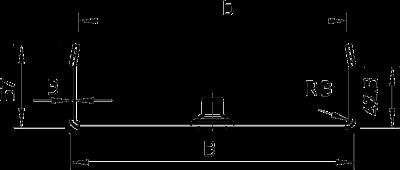 Схема Центральный потолочный подвес, для кабельных лотков с боковой стенкой высотой 60 мм — арт.: 6358705