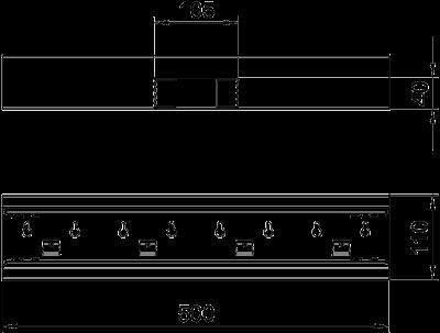 Схема Т-образная секция для кабельного короба высотой 70 мм — арт.: 6277060