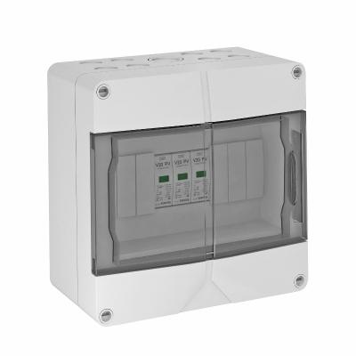 Системное решение для защиты фотогальванических установок с соединительными клеммами, в корпусе, с разрядниками типа 2, 1000 В — арт.: 5088650
