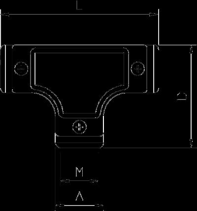 Схема Т-образная секция с контрольным отверстием, с резьбой — арт.: 2047604