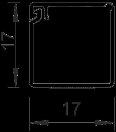 Схема Мини-канал на клейкой основе с шарнирной крышкой MD17 — арт.: 6150292