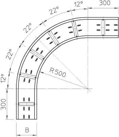 Схема Угловая секция 90° — арт.: 6098703