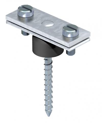 Держатель для плоских проводников, с шурупом и распоркой — арт.: 5025206