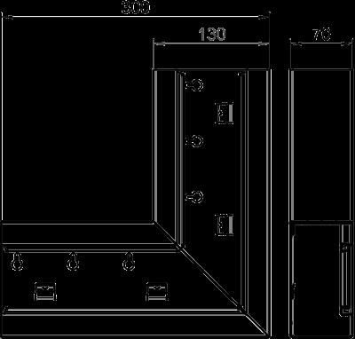 Схема Плоский угол для кабельного короба высотой 70 мм — арт.: 6277220