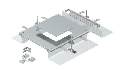 Монтажная секция с крышкой для лючка GES6, высота 40 — 140 мм — арт.: 7424322