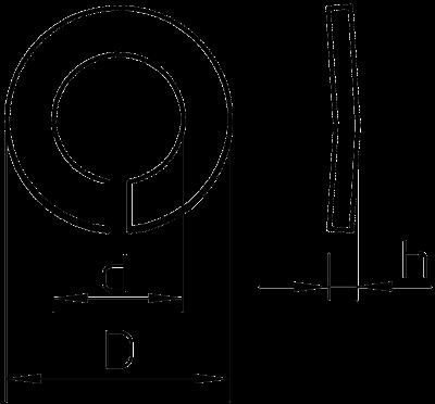Схема Пружинная шайба — арт.: 3405060