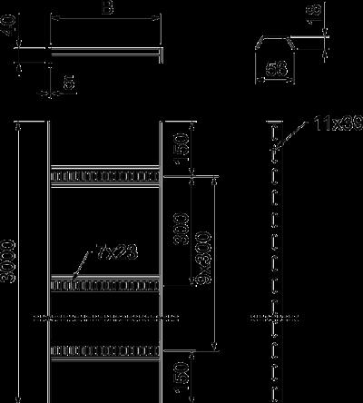 Схема Кабельный лоток лестничного типа, стандартный — арт.: 7097409