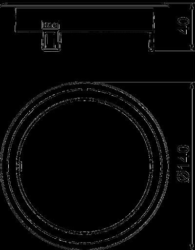 Схема Лючок GES R2 с глухой крышкой, без выемки для фрагмента напольного покрытия, пластиковый — арт.: 7405086