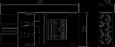 Схема Штекерный адаптер 3-полюсный, с пружинным соединением — арт.: 6108050