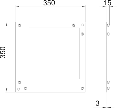 Схема Пластина для плоского угла — арт.: 7216435