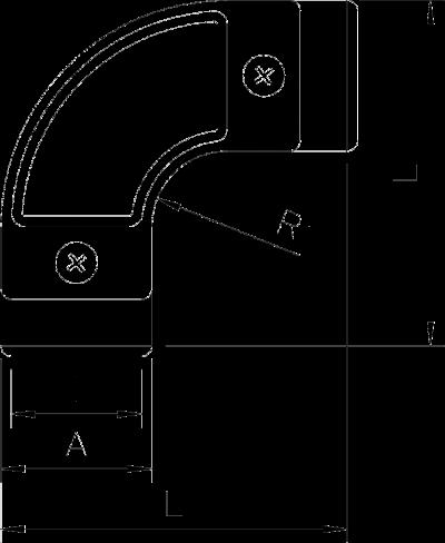 Схема Дуга с контрольным отверстием, без резьбы — арт.: 2047623