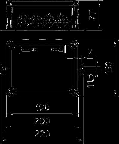 Схема Огнестойкая распределительная коробка FireBox T160ED с наружным креплением и ударопрочной крышкой — арт.: 7205626
