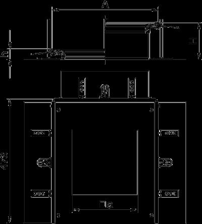 Схема Монтажная секция с крышкой для лючка GES9, высота 40 — 240 мм — арт.: 7424344