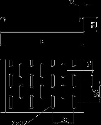 Схема Листовой кабельный лоток MKS — арт.: 6053513