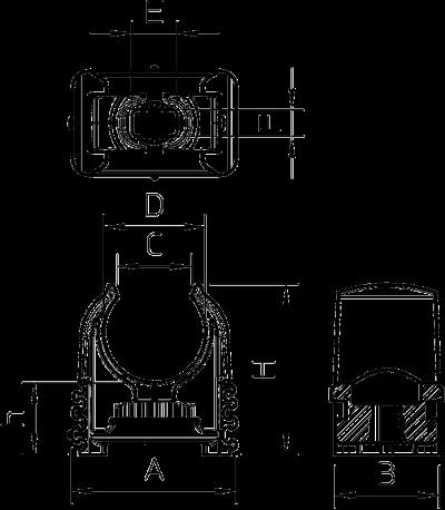 Схема Зажим Quick для труб, с отверстием для дюбеля — арт.: 2149701