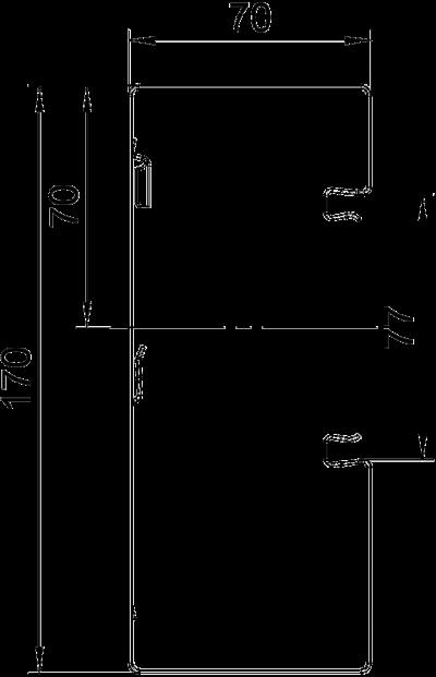Схема Стальной кабельный короб Rapid 80 высотой 70 мм — арт.: 6277800