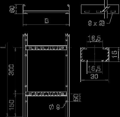 Схема Кабельный лоток LCIS лестничного типа — арт.: 6209610
