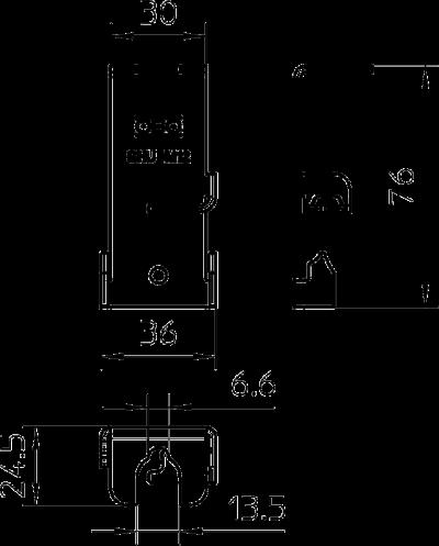 Схема Боковой держатель, универсальный — арт.: 6015322