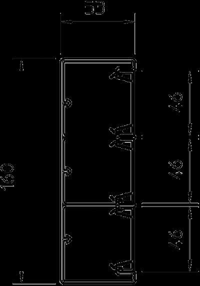 Схема Пластиковый кабельный короб Rapid 45, GEK-K 53160-3 — арт.: 6116073