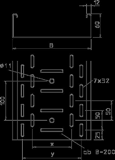 Схема Листовой кабельный лоток RKS — арт.: 6055885