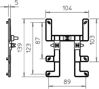 Схема Элемент для крепления к проволочному лотку — арт.: 2007833