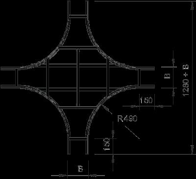 Схема Крестообразная секция — арт.: 6219527