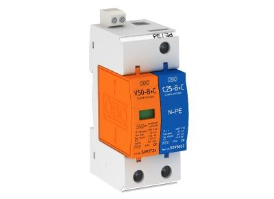 Молниезащитный разрядник и устройство защиты от перенапряжений, 1-полюсный + NPE, с дистанционной сигнализацией — арт.: 5093661