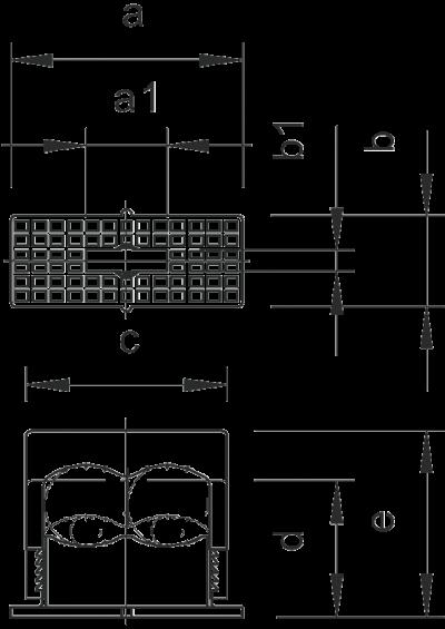 Схема Нажимная крепежная скоба, двойная — арт.: 2115018