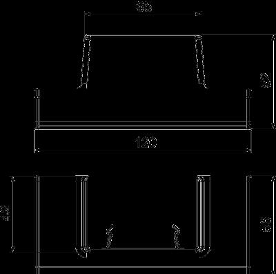 Схема Адаптер для Т-образной секции под кабельный короб WDK 40060 — арт.: 6113320