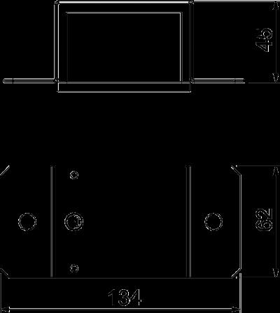 Схема Соединитель для огнестойкого металлического кабельного канала — арт.: 7216510