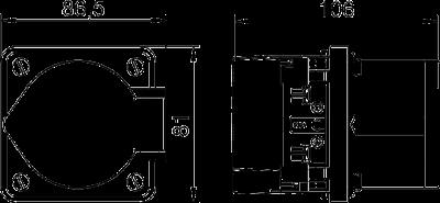Схема Розетка CEE одинарная, 16 А — арт.: 6288612