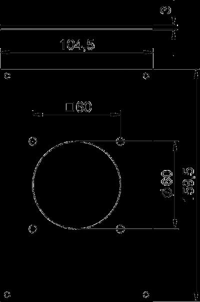 Схема Плата VHF для 1 розетки CEE — арт.: 6109865