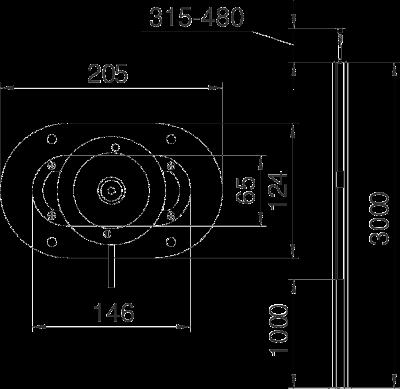 Схема Алюминиевая электромонтажная колонна ISST70140B — арт.: 6290013