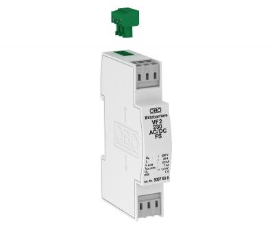 Модуль защиты для 2-полюсных сетей 230 В постоянного/переменного тока, с дистанционной сигнализацией, с защитой от тока утечки — арт.: 5097939