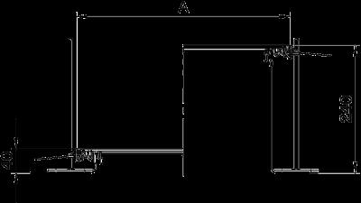 Схема Секция кабельного канала с крышкой для лючка GES4, высота 40 — 240 мм — арт.: 7424140