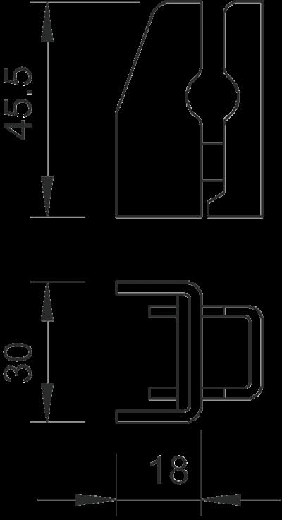 Схема Держатель для круглых проводников Rd 8-10 и плоских проводников FL 30 — арт.: 5033209