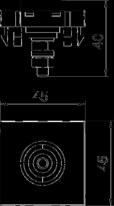 Схема Розетка для уравнивания потенциалов, ширина 1 модуль, с прямым выводом — арт.: 6120003