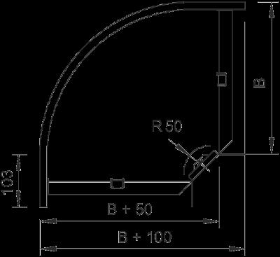 Схема Угловая секция 90° 100-300 мм — арт.: 7001894